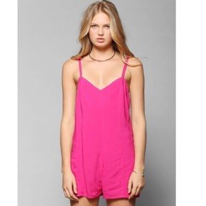 Hot Pink Urban Outfitters Romper